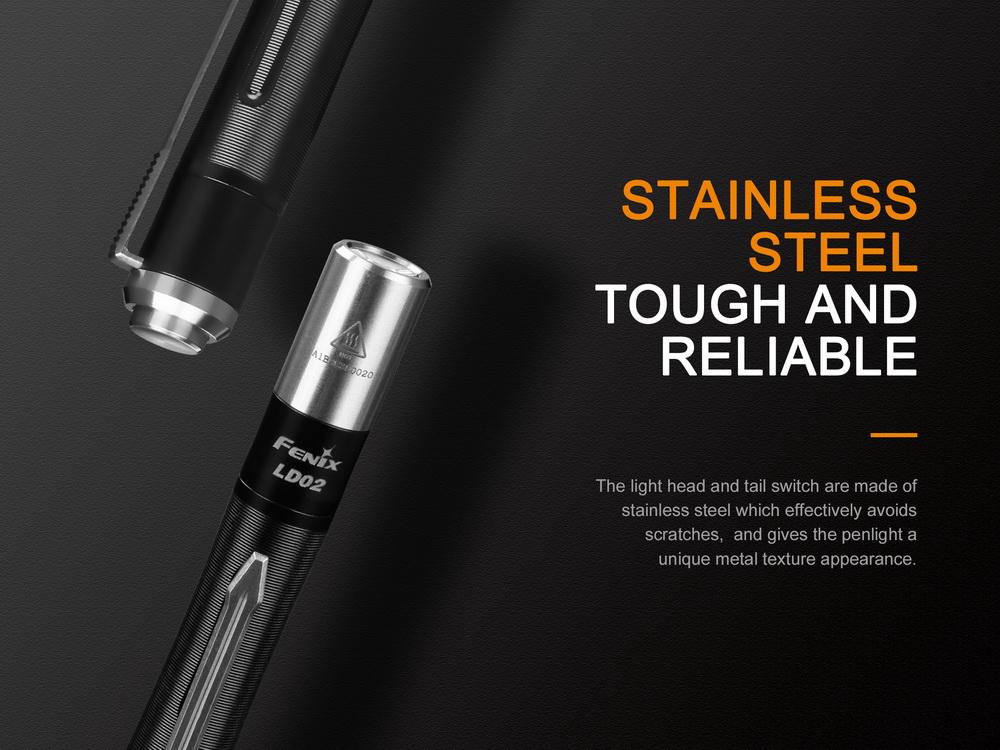 Battery Fenix LD02 V2.0 Cree XQ-E HI LED 365nm UV EDC Flashlight Torch