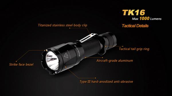 18650, CR123A New Fenix TK16 Cree XM-L2 U2 1000 Lumens LED Flashlight Torch