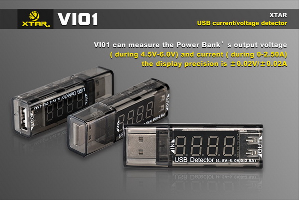 Led Battery Bank Monitor : Xtar vi usb voltage current detector tester monitor for